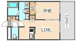 サニークレスト東比恵[9階]の間取り