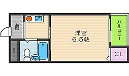 ブロッサム阿倍野[5階]の間取り
