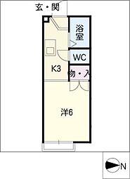 セントラルリバーII[2階]の間取り