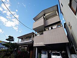 栃木県宇都宮市京町の賃貸アパートの外観