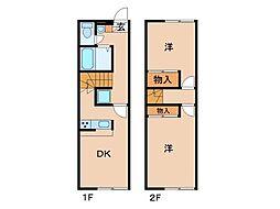 レオパレスサニーコート[2階]の間取り