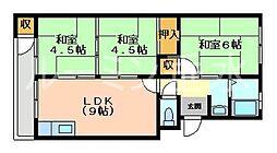垂水農住8号棟[3階]の間取り