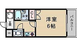 セレッソコート西心斎橋I[5階]の間取り