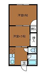第1富貴荘[2階]の間取り