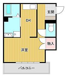 ニュー八幡[2階]の間取り
