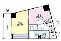 神奈川県川崎市川崎区宮前町の賃貸マンションの間取り