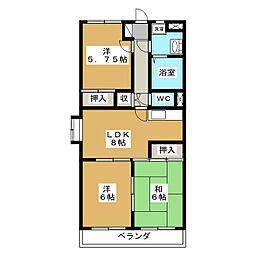 ア・ドリーム松田[1階]の間取り