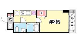 ラ・フォーレ長田[403号室]の間取り