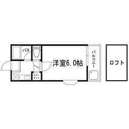 ラフォーレ21藤崎南[2階]の間取り