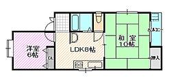 博光マンション[3階]の間取り
