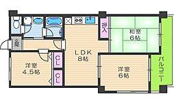 WELFARE YAMASAKA[2階]の間取り