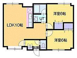 ニューノース[1階]の間取り