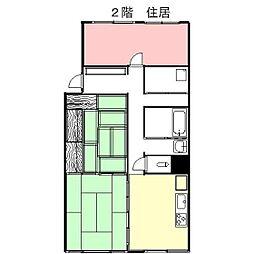 日ノ本町本田ビル(住居)[01号室]の間取り