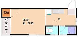 K&Kコーポ[1階]の間取り