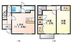 メゾンドYU[2階]の間取り