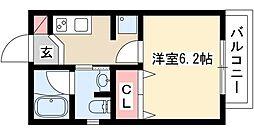 T.Island116 3階1Kの間取り