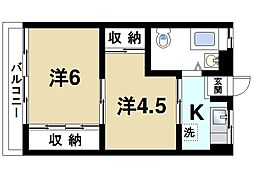 辻内マンション[3階]の間取り