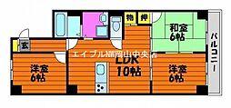 ラ・メール東島田[3階]の間取り