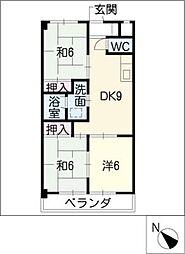 クリスタルシャトーSUZUKI[3階]の間取り