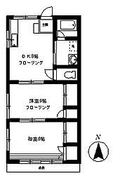 キャッスル21[1階]の間取り