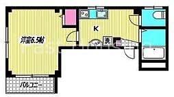 京王井の頭線 高井戸駅 徒歩5分の賃貸マンション 1階1Kの間取り