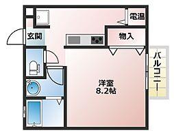 大阪府大阪市阿倍野区昭和町4丁目の賃貸アパートの間取り
