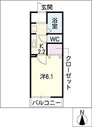 ベルデュール稲上[2階]の間取り