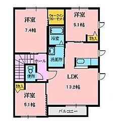 シャーメゾン・アバンティ[2階]の間取り