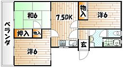 櫻山[2階]の間取り
