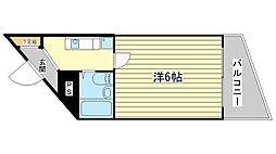 兵庫県姫路市山吹2丁目の賃貸マンションの間取り