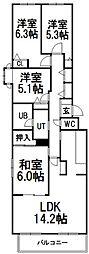 ガーデンハウス山鼻南II[1階]の間取り