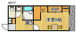 レオパレスクレール[1階]の間取り