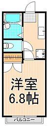 ヴィレヂ・ハピネス5 壱番館[204号室]の間取り
