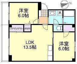 小野マンション[3階]の間取り