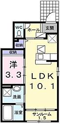 フィオーレ西庄B[1階]の間取り