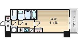 プレサンス北堀江[7階]の間取り