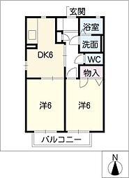 トレゾ−ル JUN[2階]の間取り