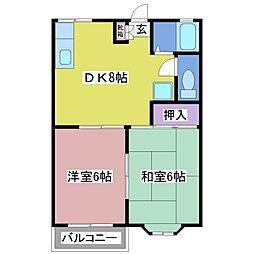 大蔵谷ハイツ[2階]の間取り