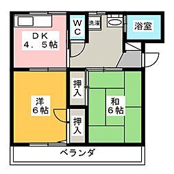 メゾン中沢[1階]の間取り