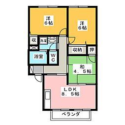 アネシス・ミキ[2階]の間取り