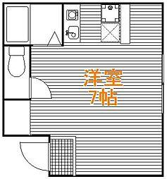 東京都台東区浅草4丁目の賃貸アパートの間取り