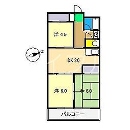 アステール・K[5階]の間取り