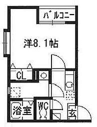 リブレア箱崎駅前B[2階]の間取り