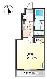 シェールクレール[1階]の間取り