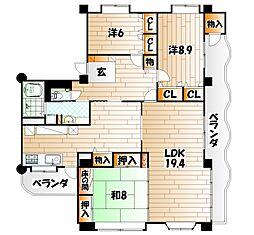 天羽邸[3階]の間取り