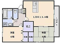 ルミエール A棟[2階]の間取り