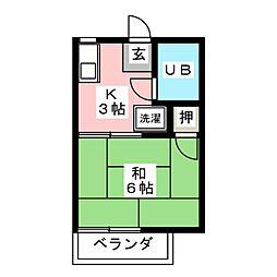サンコーポ天野[2階]の間取り