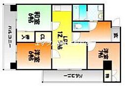 厚生町クラウンズマンション[1階]の間取り