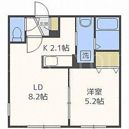 北海道札幌市中央区南八条西8丁目の賃貸マンションの間取り