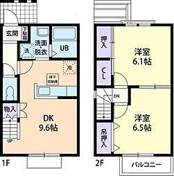 プラザ花岡B[2階]の間取り